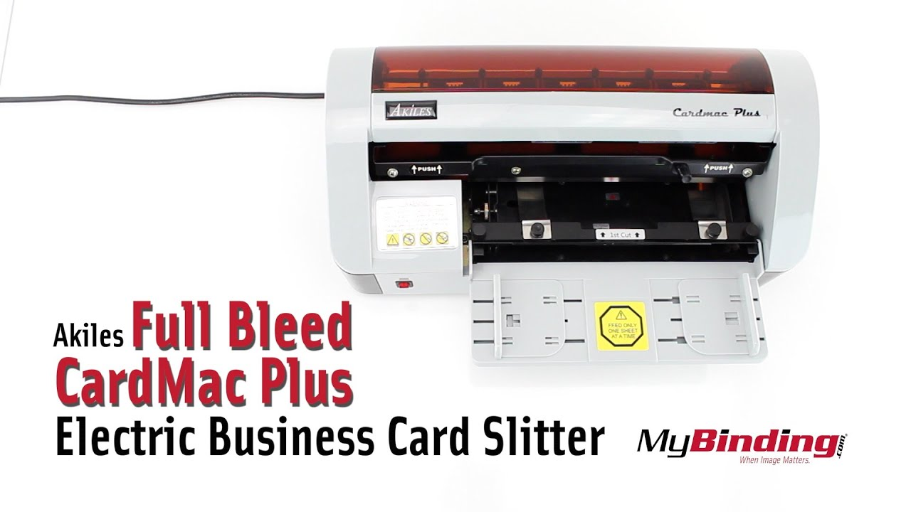 Akiles Full Bleed Cardmac Plus Electric Business Card Slitter Youtube