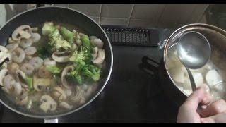FPS × 料理 簡単海老のアヒージョと鶏肉とカブの中華風スープ thumbnail