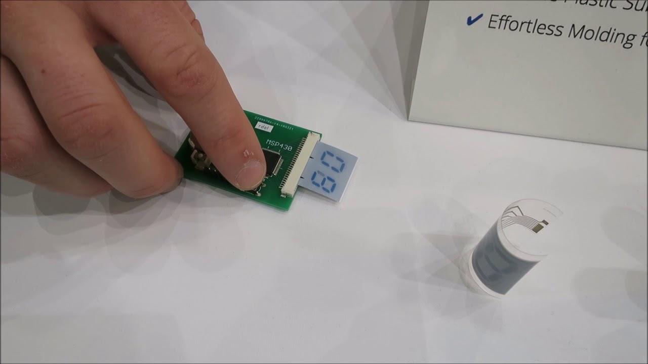 rdot flexible printed e-paper displays at SID 2018