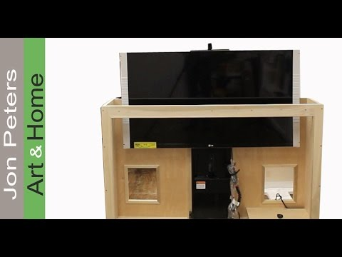 How To Build a TV Lift Cabinet - Make Bead Molding by Jon Peters - YouTube