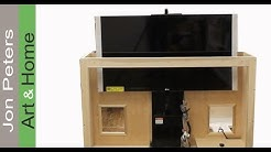 How To Build a TV Lift Cabinet -  Make Bead Molding by Jon Peters