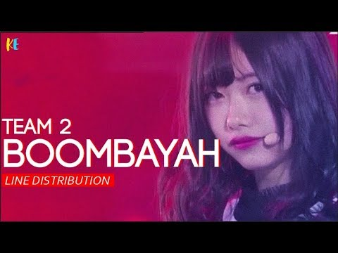 Produce 48 (프로듀스 48) Team 2 - Boombayah (Blackpink) | Line Distribution