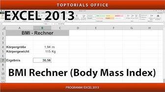 Eigener BMI - Rechner / Body - Mass - Index (Excel)