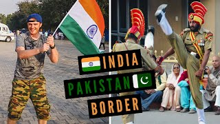 INDIA-PAKISTAN Border Closing Ceremony at Attari-Wagah + Trying PAKISTANI FOOD For the First Time!