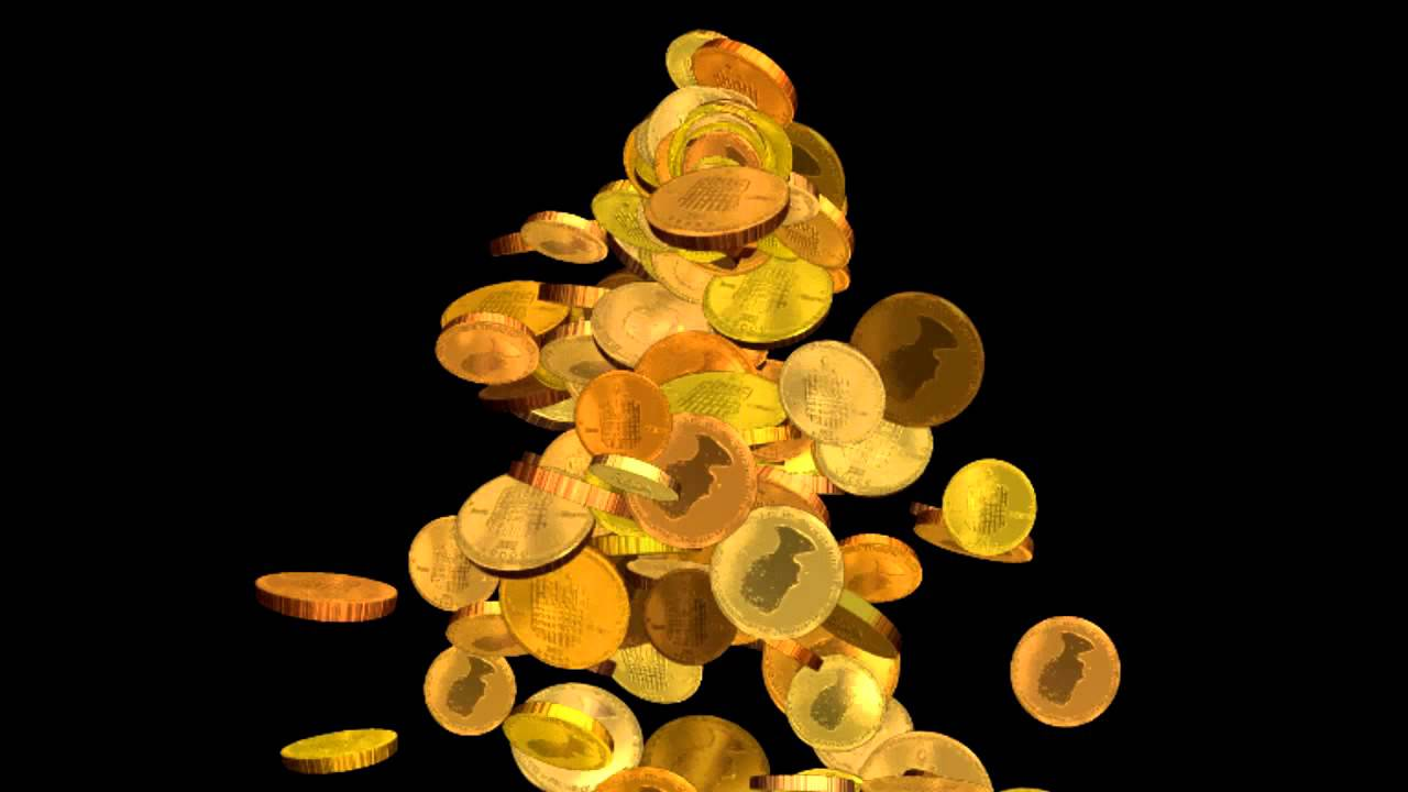 Анимация падающих монет фото