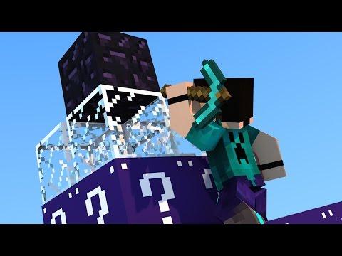 Minecraft - PIRAMIDE PVP! LUCKY BLOCK MINI GAME COM MOD!