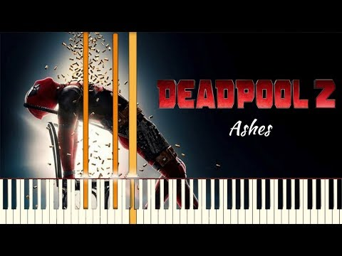 Céline Dion - Ashes - Deadpool 2 Main Theme  Piano Tutorial Synthesia