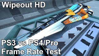 Wipeout HD PS3 vs PS4 vs PS4 Pro Frame Rate Test (Omega Collection)