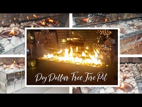 Diy Dollar Tree Decor Elegant Portable Indoor Fire-pit - Diy Table Top fire bowl - Fireplace - Easy
