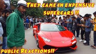 Millionaire Boys with Expensive cars in India | Bangalore | Lamborghini Giro 2018