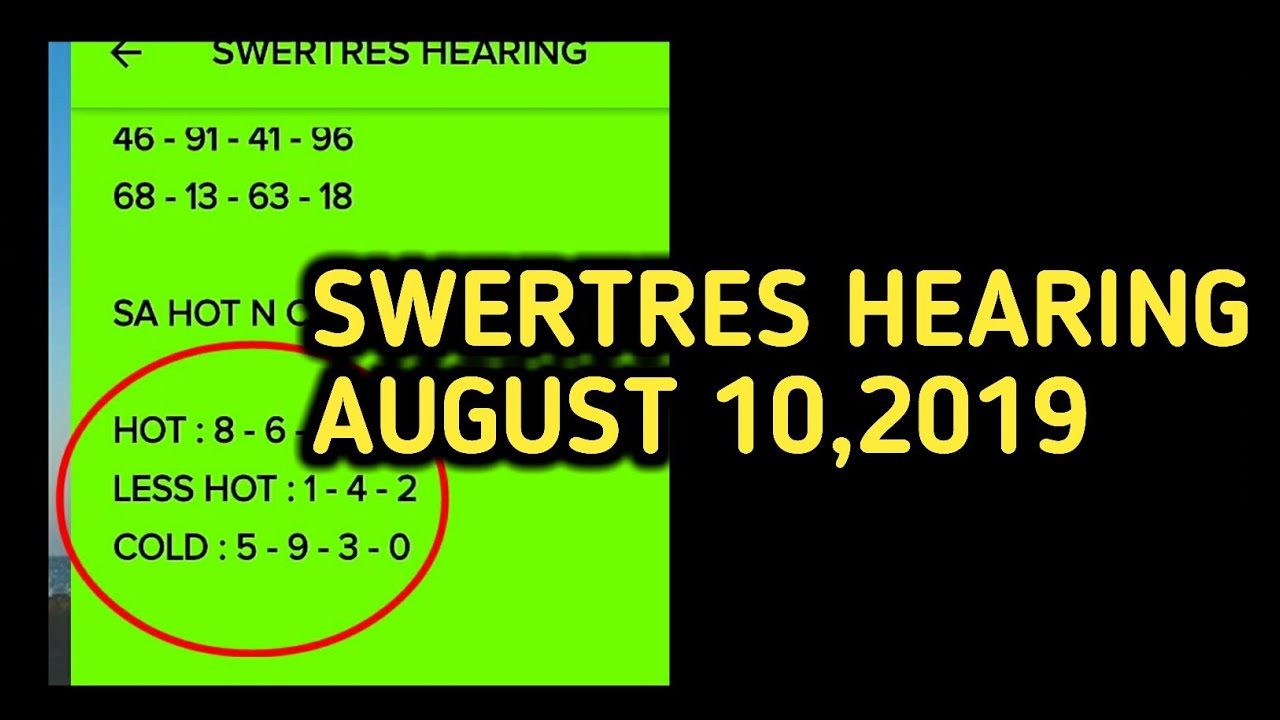 SWERTRES HEARING | AUGUST 10,2019