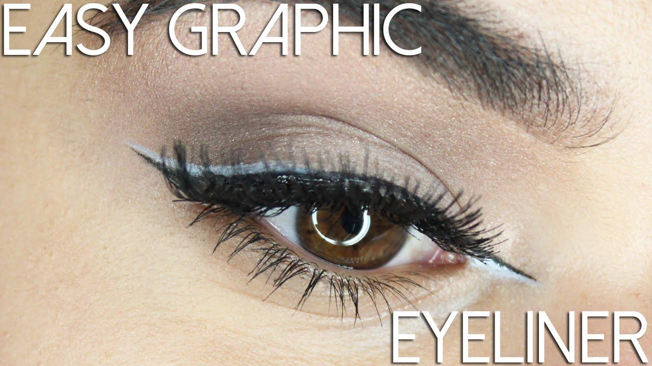 La Girl Line Art Matte Eyeliner Review : Graphic liner for beginners tutorial youtube