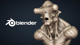 Escultura digital no Blender 2.8 similar a do ZBrush