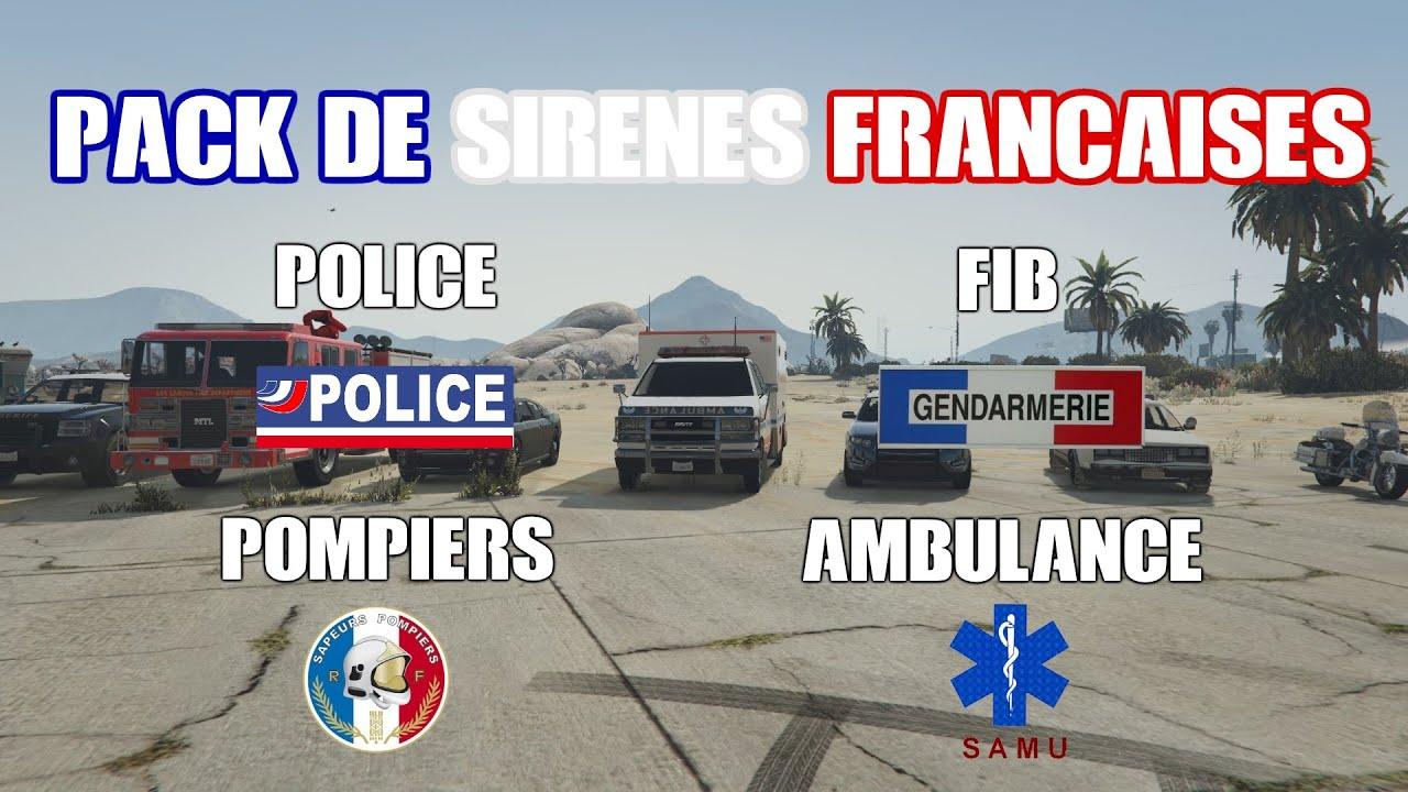 Pack de sirènes 2 tons françaises / French Sirens Pack