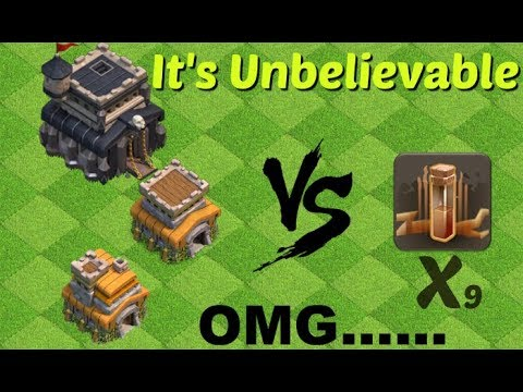 Clash Of Clans - EARTHQUAKE SPELL VS. TOWNHALL {9,8,7} Hindi