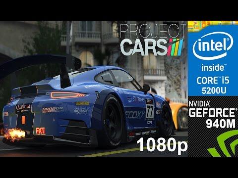Project Cars on HP Pavilion 15-ab032TX, Core i5 5200u + Nvidia Geforce 940m, 1080p