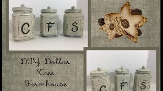 DIY Dollar Tree Farmhouse Canisters