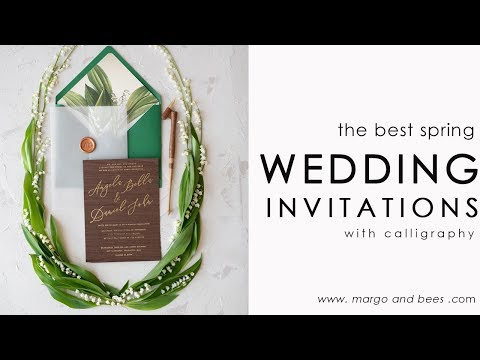 Spring wedding invitations idea