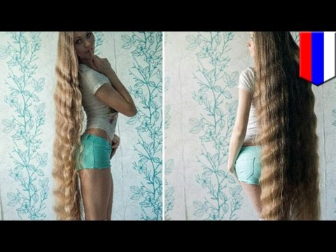 Real-life Rapunzel from Russia has been growing her hair for 13 years - TomoNews
