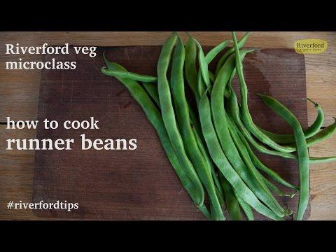 How to de-string & cook runner beans - Riverford veg microclass