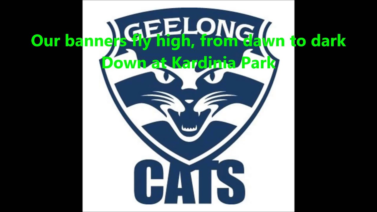 Geelong Cats Theme Song Lyrics Afl Sing A Long Youtube