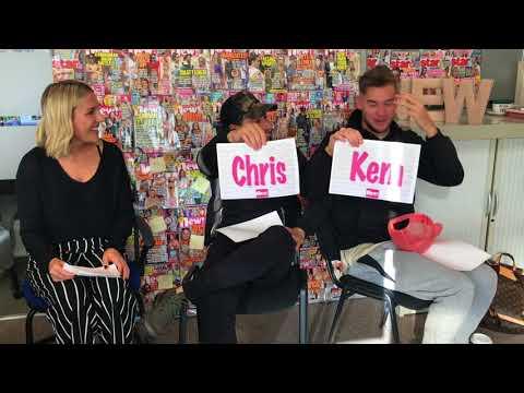 Love Island's Chris Hughes and Kem Cetinay play Mr and Mrs at new! HQ