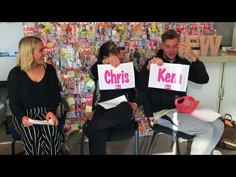 Love Island's Chris Hughes and Kem Cetinay play Mr and Mrs at new! HQ