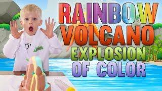 Coolest Rainbow Volcano EVER!!!