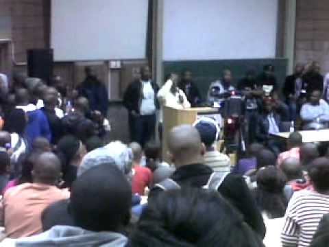 Malema at cput cape town campus
