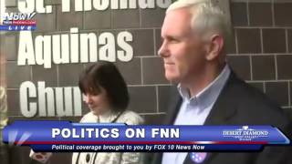 MUST WATCH: Mike Pence Leaving the Polls in Indiana FNN