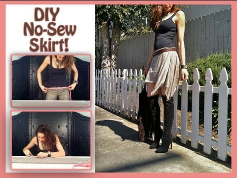 how to make a skirt no sew