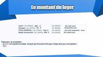 Comprendre, stipuler un contrat de bail en français