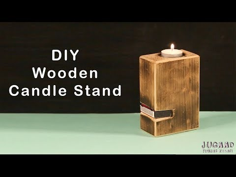 DIY Wooden Candle Stand