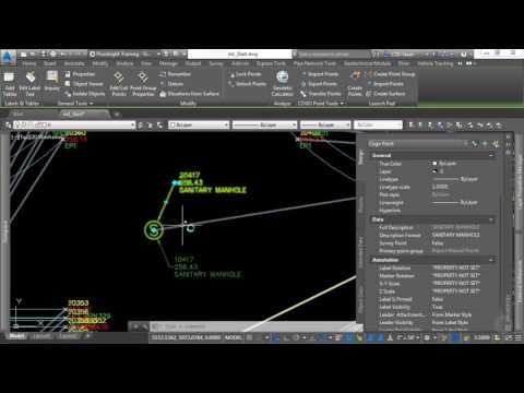 Utilizing the Survey Database in AutoCAD Civil 3D