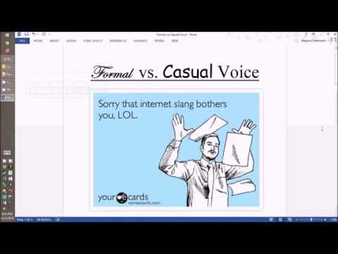 Formal Vs. Casual Language