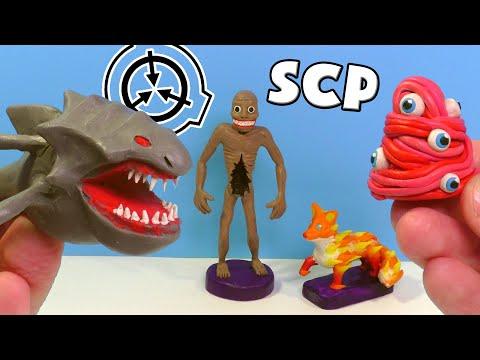 SCP-1128 водяний жах, SCP-957 Наживка, SCP-334 Зоряний лис і SCP-066-ліпимо з пластиліну