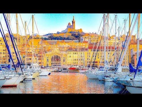 A Walk Around the Old Port of Marseille, (Vieux Port) Marseille, France