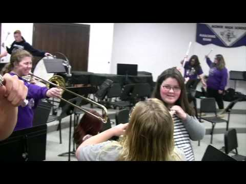 AGWSR High School Band mannequin challenge!