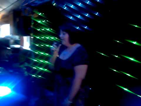 Karaoke Singer at the CoOp Club Blackpool Lancashire on the Dj Aldini karaoke Show