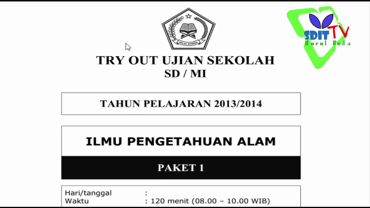 Kunci Jawaban Detik Detik Sd 2019 Ipa Try Out 2 Mata Pelajaran