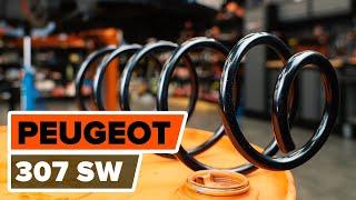 Batterie beim PEUGEOT 307 SW (3H) montieren: kostenlose Video