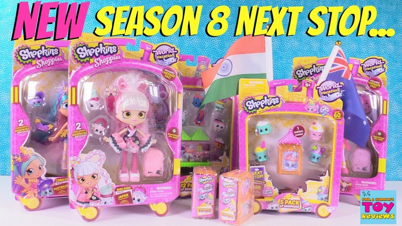 NEW Shopkins Visit Asia Season 8 12 5 Pack Opening Toy Review