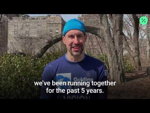 Mark - A blind man runs a half marathon with three guide dogs