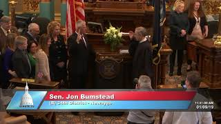 Sen. Bumstead sworn in as Michigan senator