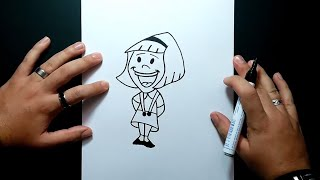 Como dibujar una niña paso a paso | How to draw a girl