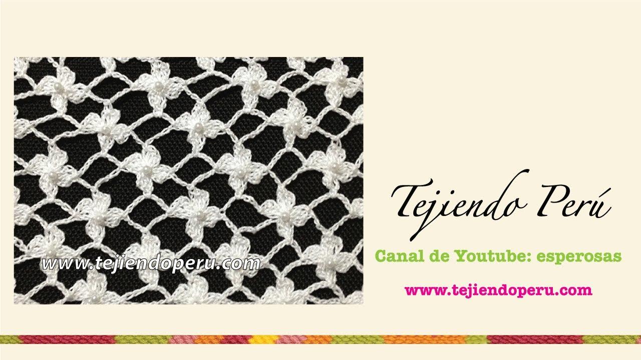 Cómo tejer el punto red de flores margaritas a crochet - Tejiendo ...