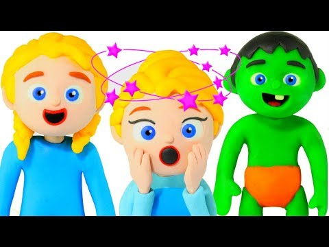 WHAT HAPPENED IN THE KITCHEN??? 鉂� SUPERHERO PLAY DOH CARTOONS FOR KIDS