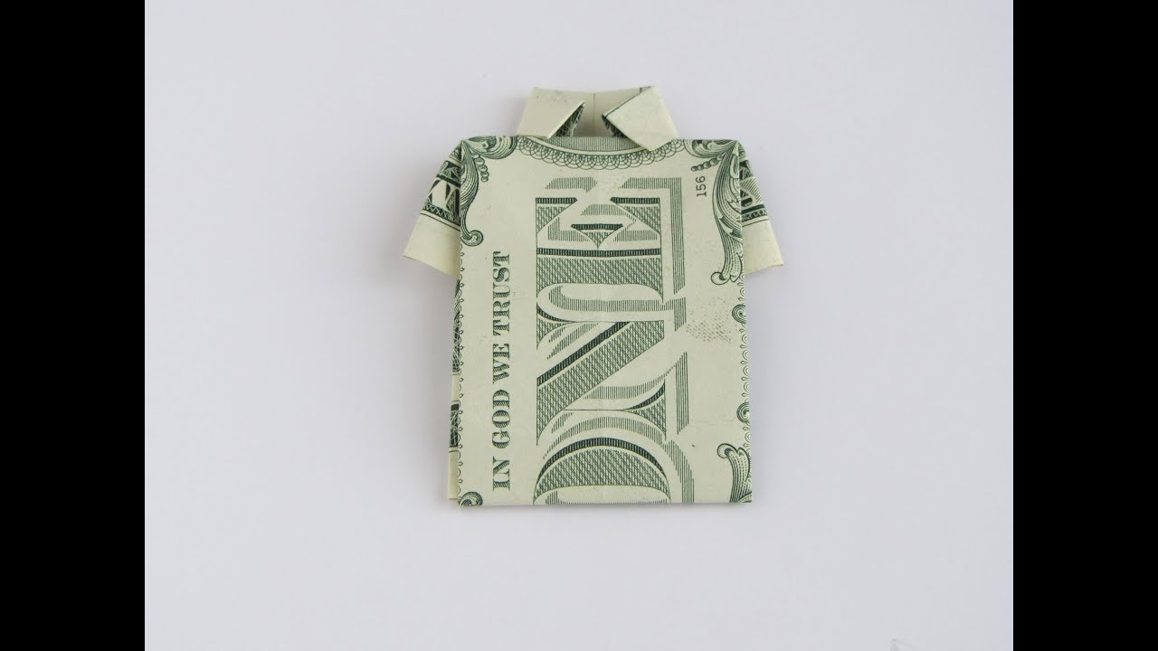 T shirt with tie money origami | Dollar origami, Origami, Money ... | 720x1280
