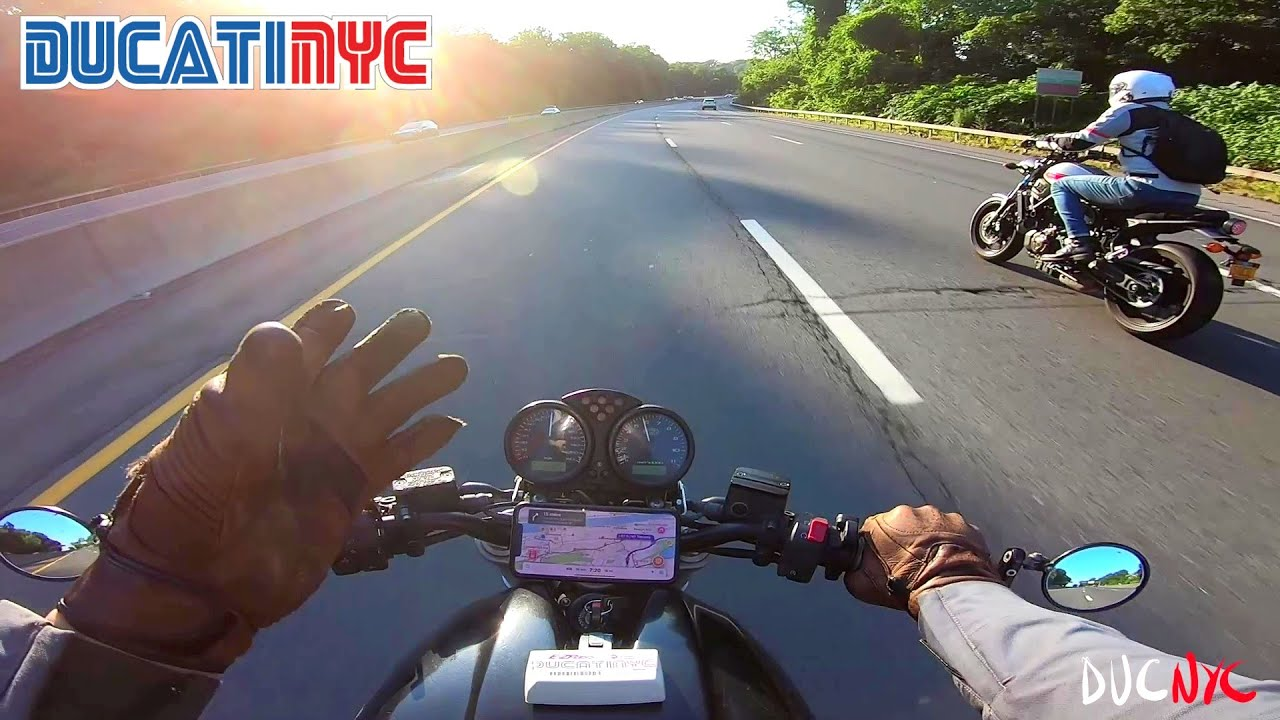 A Convo at Speed: splitting and politicin with Moto Noir - Yamaha + Ducati Ride to Nyack v1296