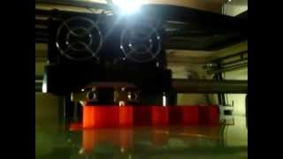 The Mbot Cube 3D Printer printing a Coin Holder